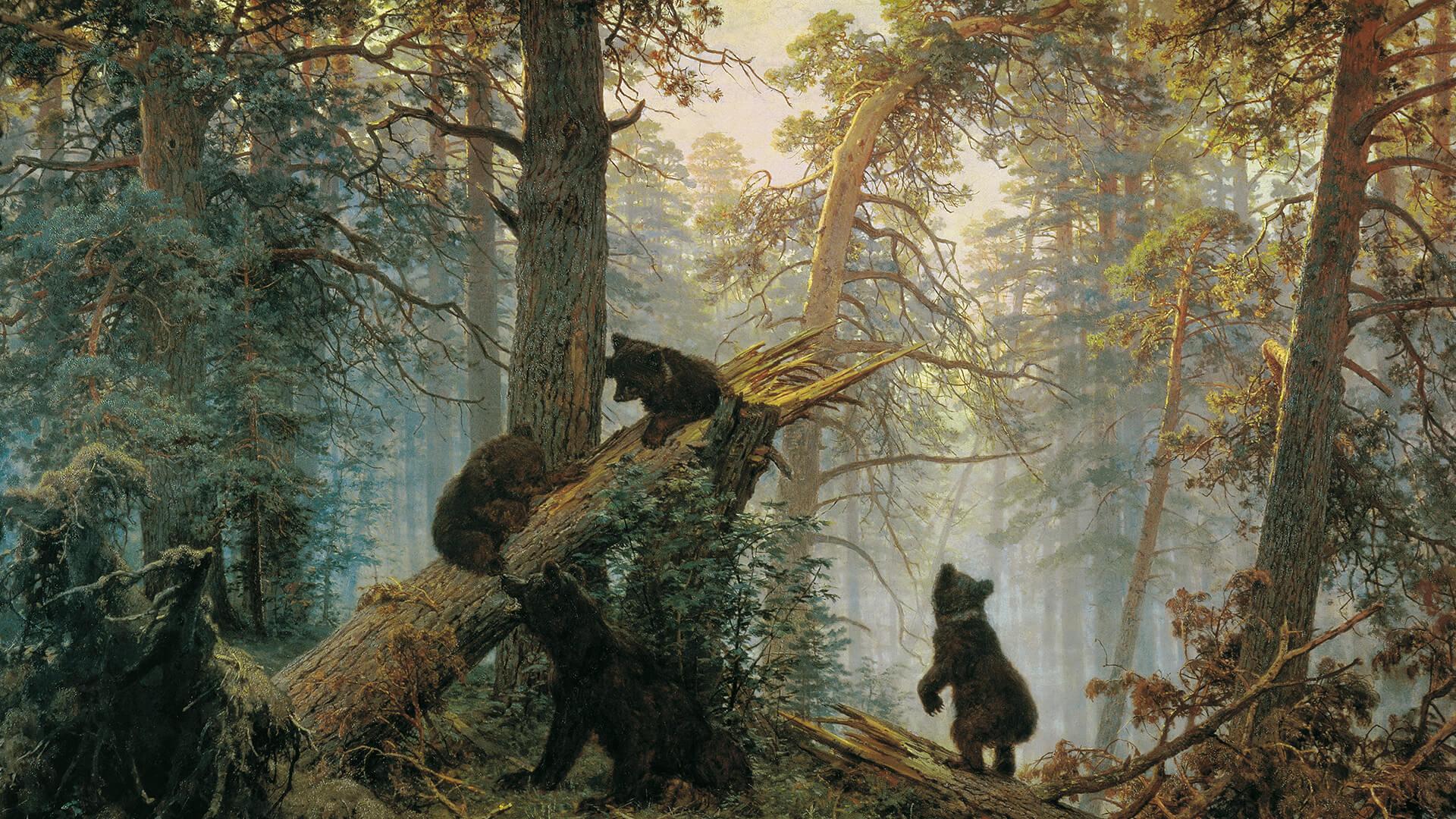 イヴァン・シーシキン Ivan Ivanovich Shishkin / Utro v sosnovom lesu