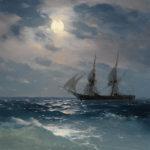 イヴァン・アイヴァゾフスキー / The Brig Mercury in Moonlight