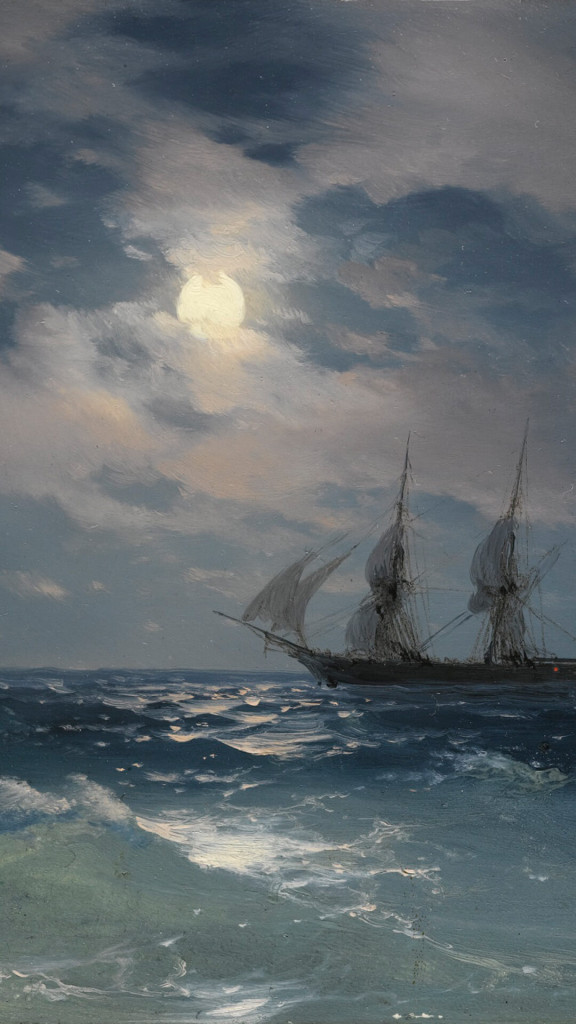 Ivan Konstantinovich Aivazovsky-THE BRIG MERCURY IN MOONLIGHT_1080x1920