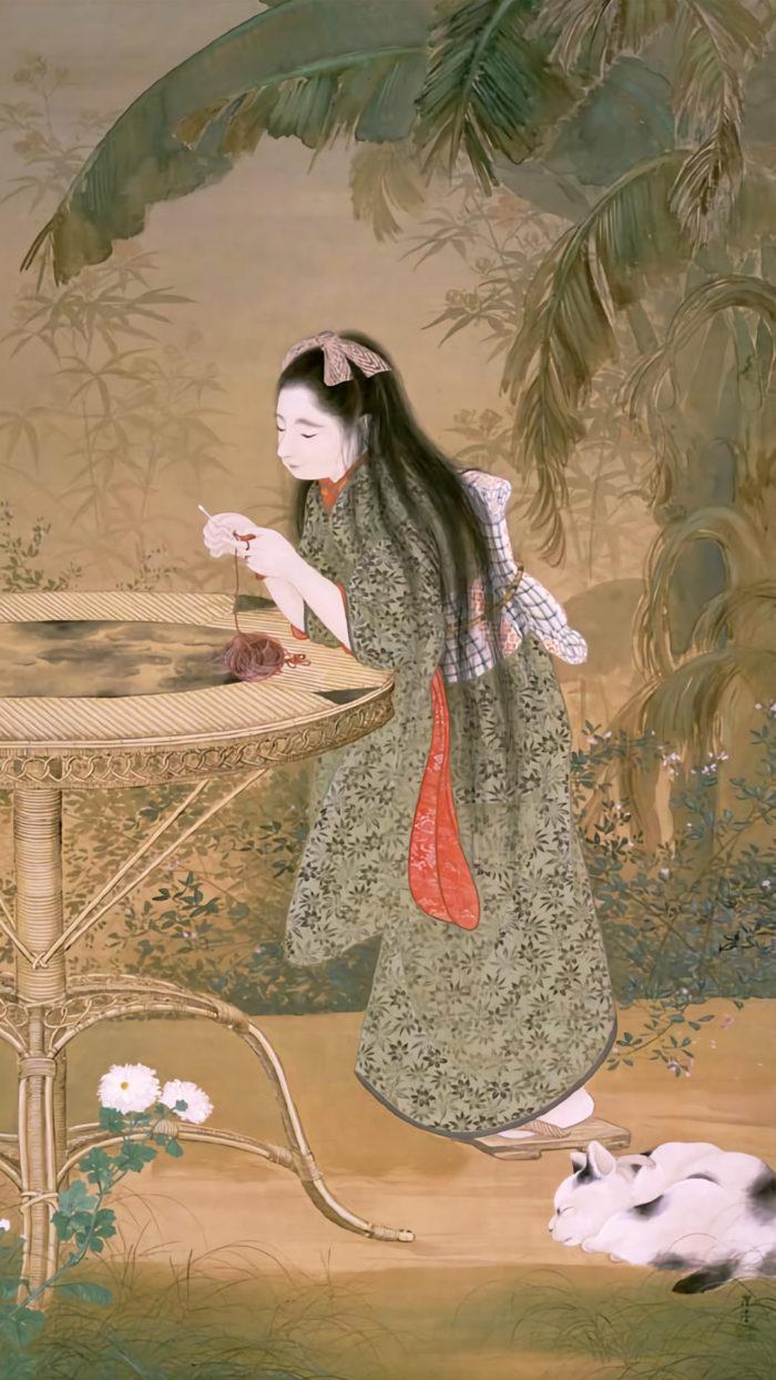 寺崎広業 秋苑 Terasaki Kogyo - shuuen 1080x1920