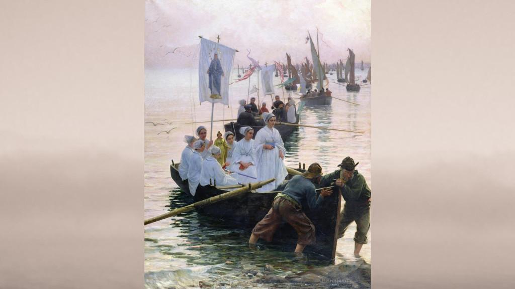 Alfred Guillou-Arrivée du pardon de sainte Anne de Fouesnant à Concarneau_1920x1080