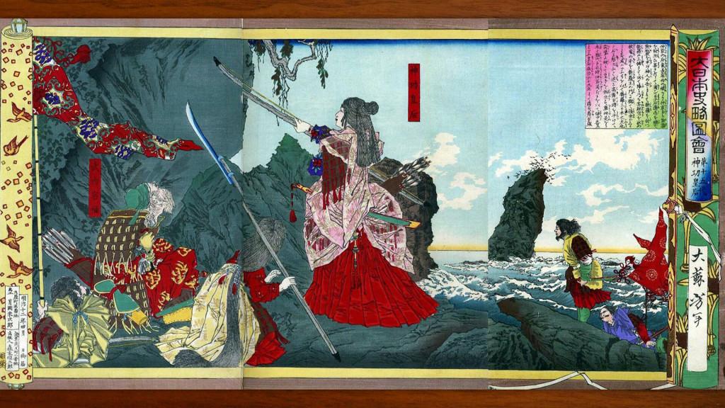 tsukioka yoshitoshi dai nihonshi ryakuzu e dai jugo dai jingu kougou 1920x1080