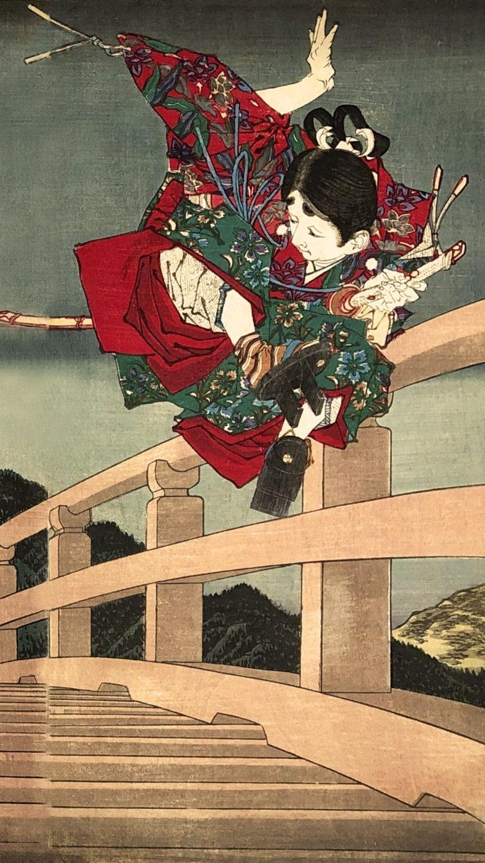 tsukioka yoshitoshi -yoshitune ki gojo oohashi no zu 1080x1920