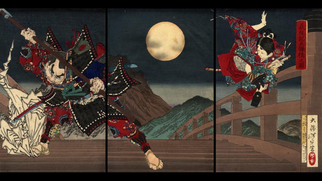 tsukioka yoshitoshi-yoshitune ki gojo oohashi no zu