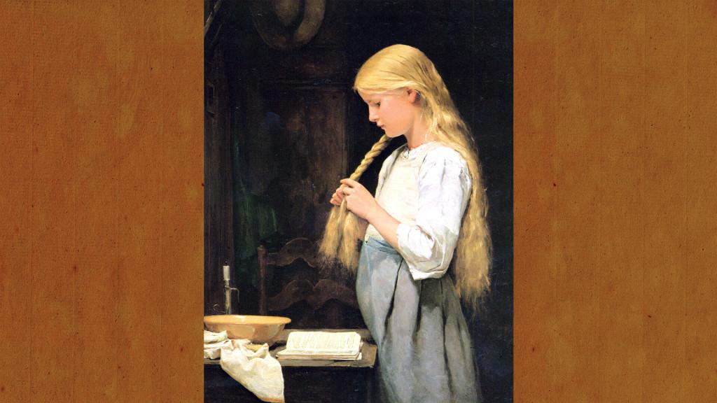 Albert Anker-Girl Braiding Her Hair_1920x1080