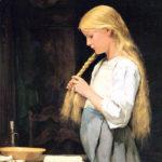 アルベール・アンカー / Girl Braiding Her Hair