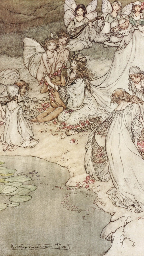 Arthur Rackham-She never had so sweet a changeling_1080x1920