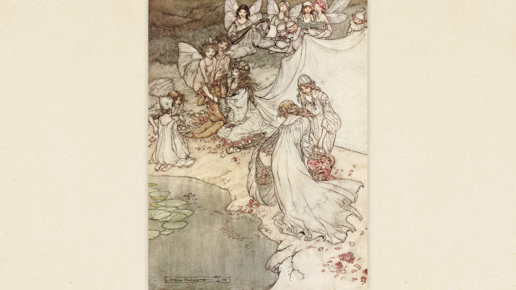 Arthur Rackham-She never had so sweet a changeling_1920x1080