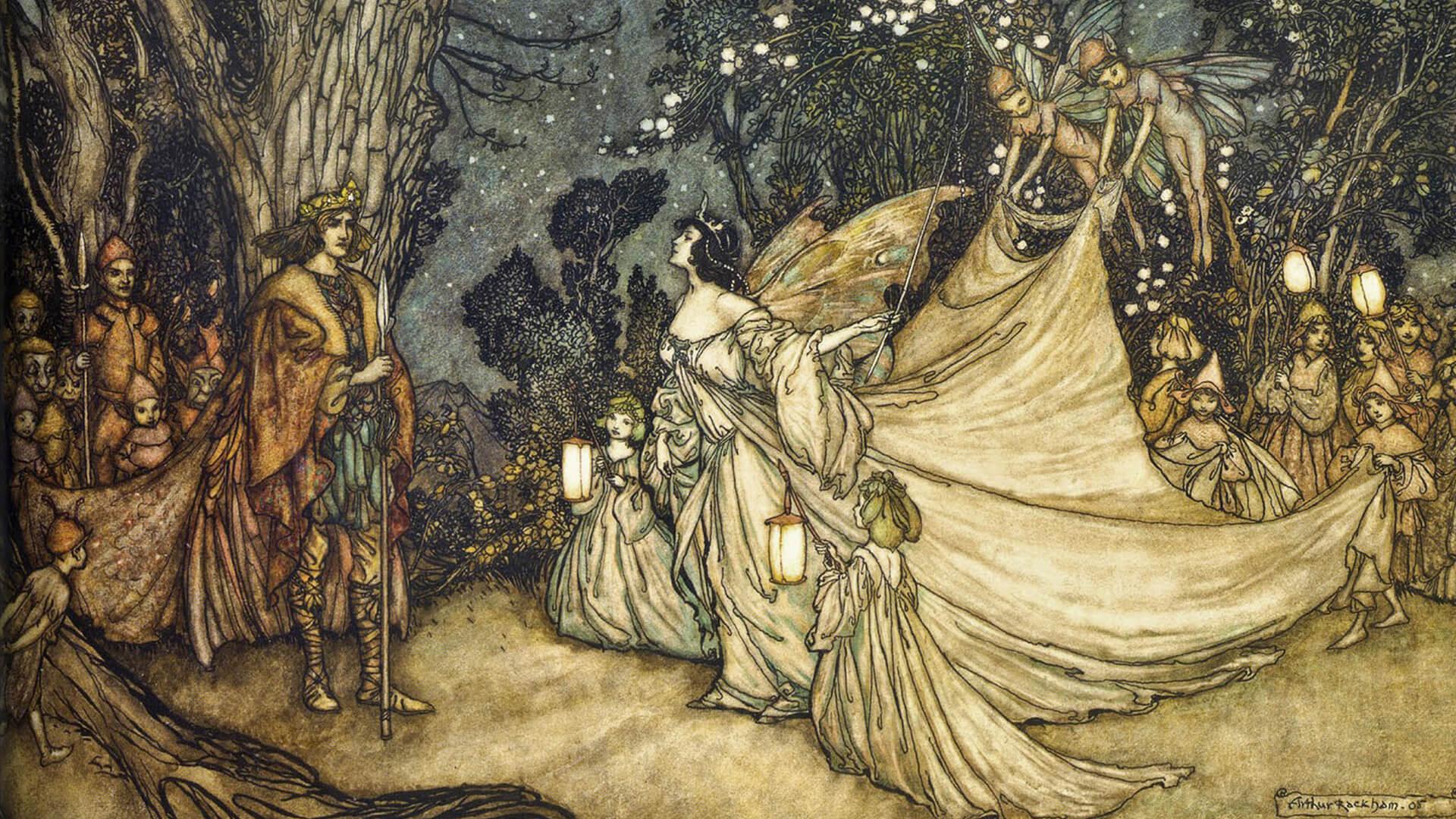 アーサー・ラッカム Arthur Rackham / Oberon and Titania