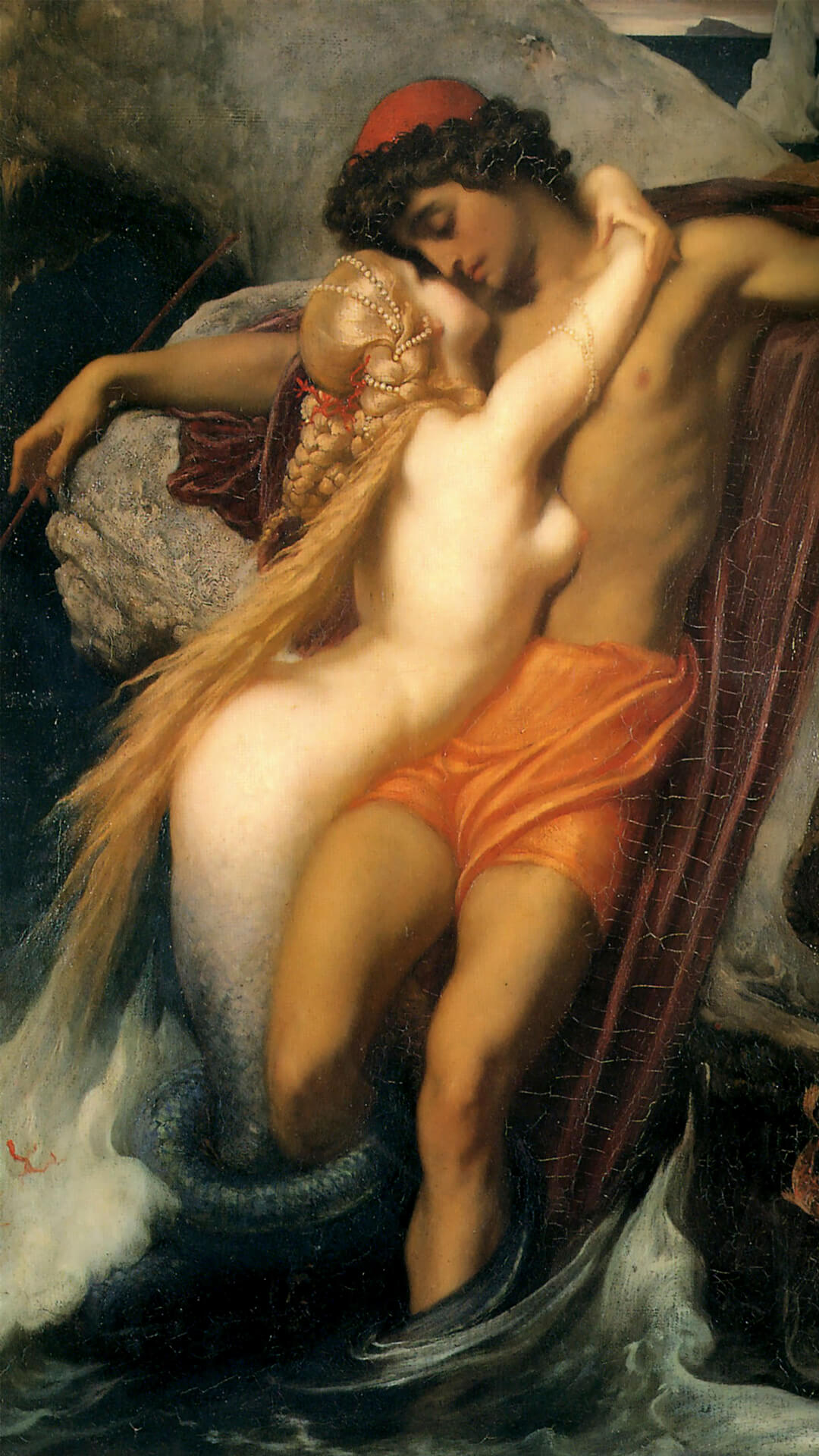 Frederic Leighton-The Fisherman and the Syren c._1080x1920