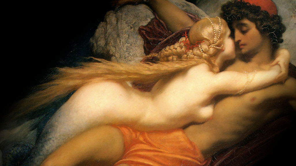 Frederic Leighton-The Fisherman and the Syren c._1920x1080