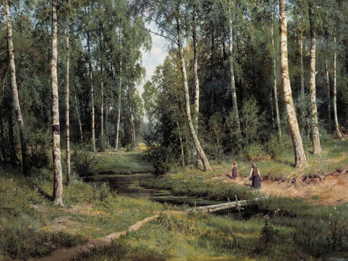 Iwan Iwanowitsch Schischkin - Brook in Birch Forest 2732x2048
