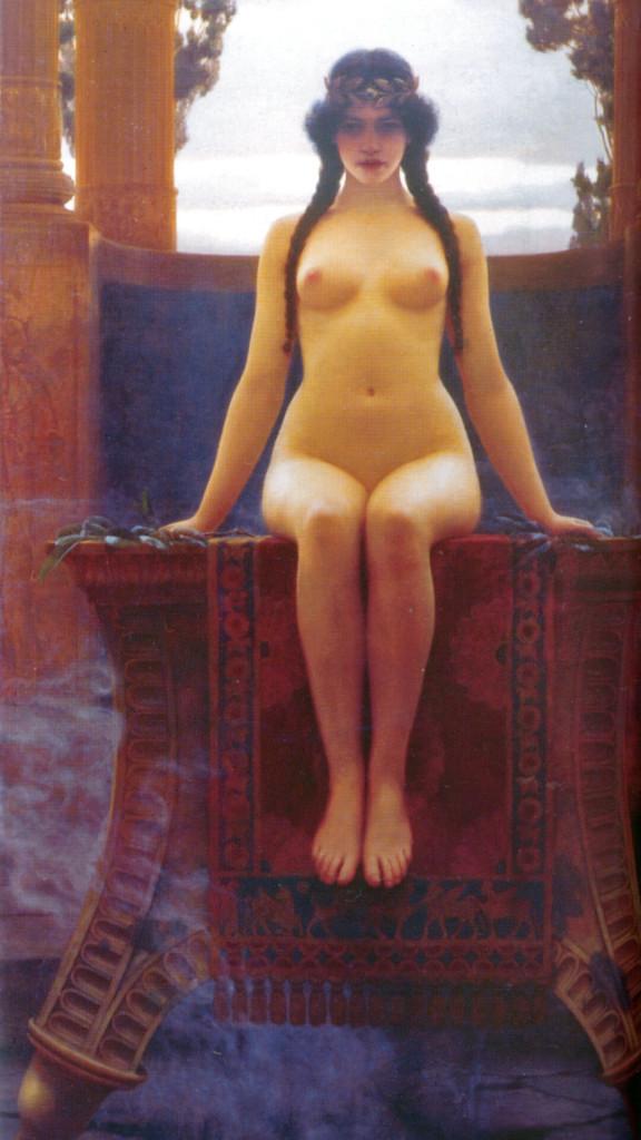 John William Godward-the delphic oracle_1080x1920