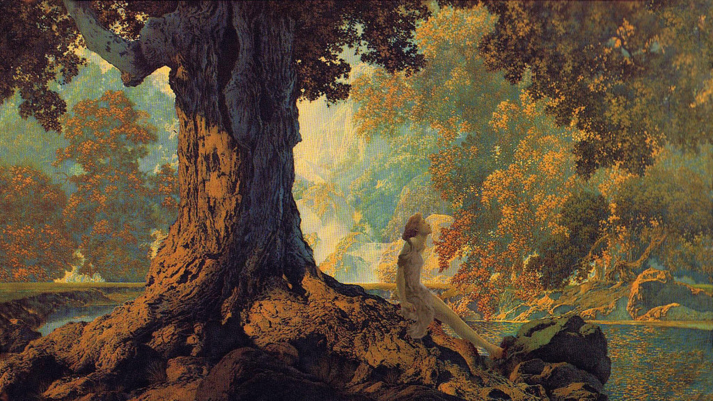 Maxfield Parrish-Dreaming_1920x1080
