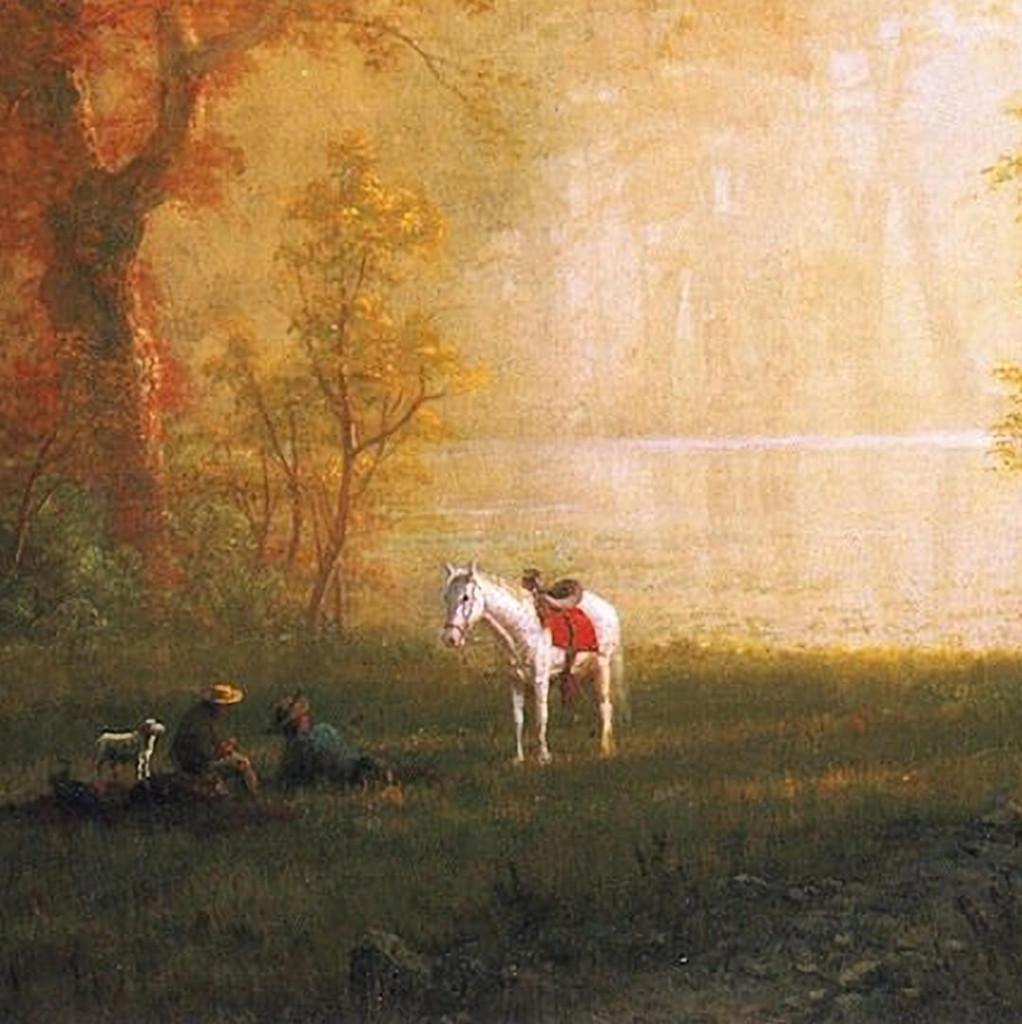 Albert Bierstadt-A Rest on the Ride_1080x1920