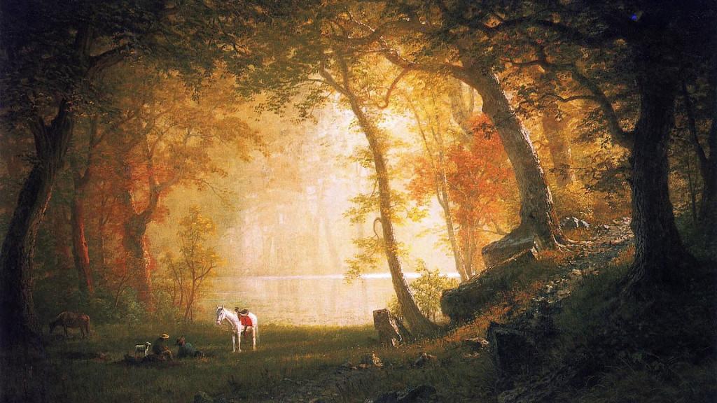 Albert Bierstadt-A Rest on the Ride_1920x1080