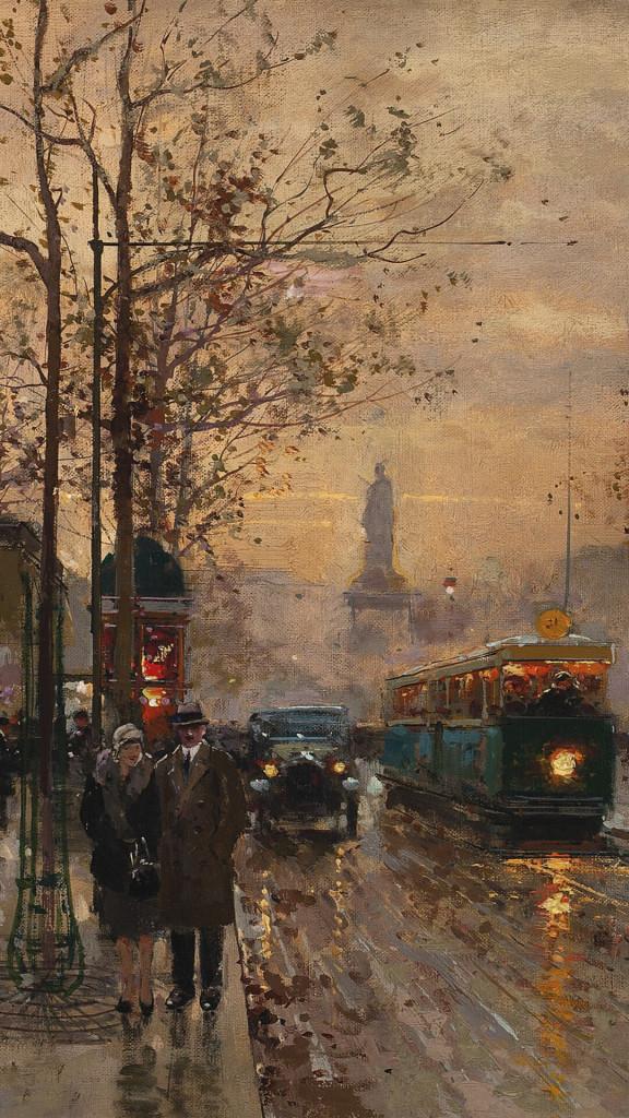 Edouard Leon Cortes-Paris, Rue Du Temple Et La Place De La Republique_1080x1920
