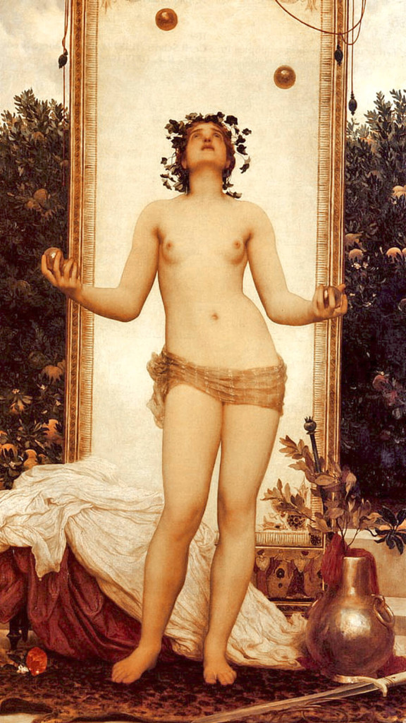 Frederic leighton-the antique juggling girl_1080x1920