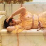 ジョン・ウィリアム・ゴッドワード / Girl in yellow Drapery