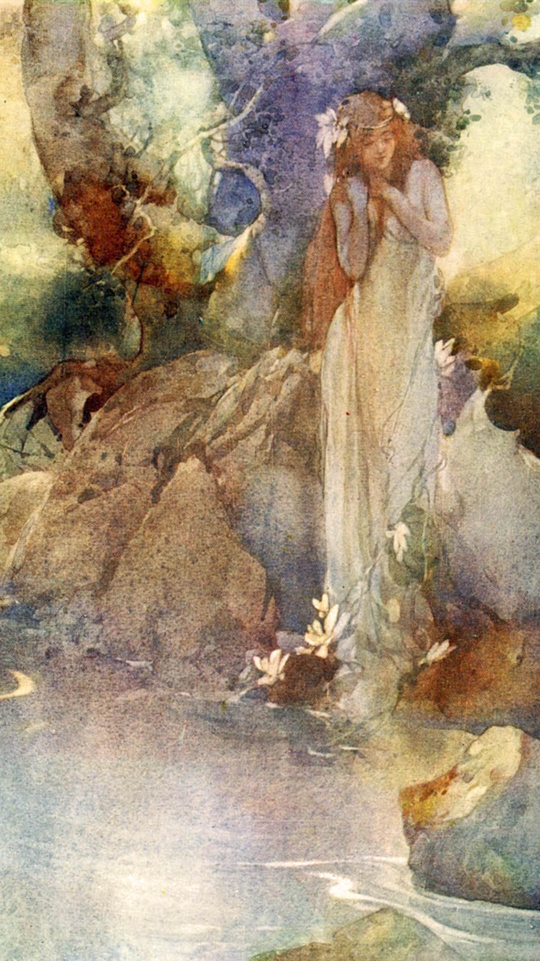 William Russell Flint-Iolanthe Rises from the Water_1080x1920