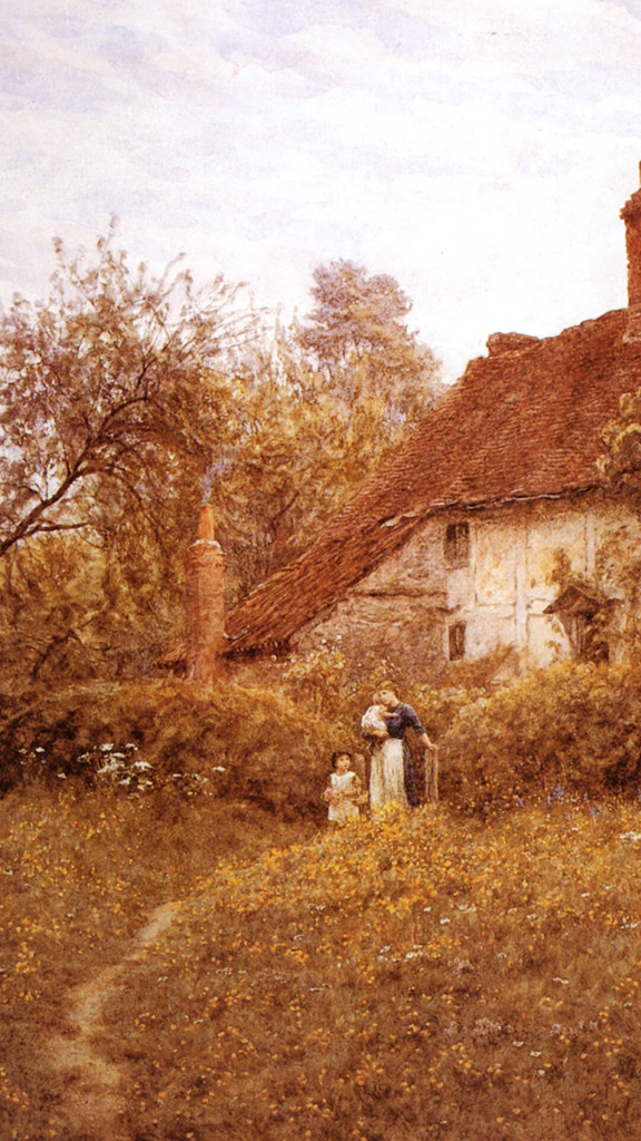 helen_allingham-Cottage_With_Sunflowers_at_Peaslake1080x1920