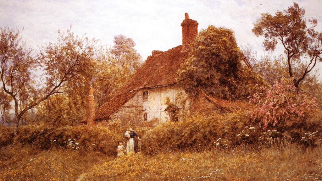 helen_allingham-Cottage_With_Sunflowers_at_Peaslake1920x1080