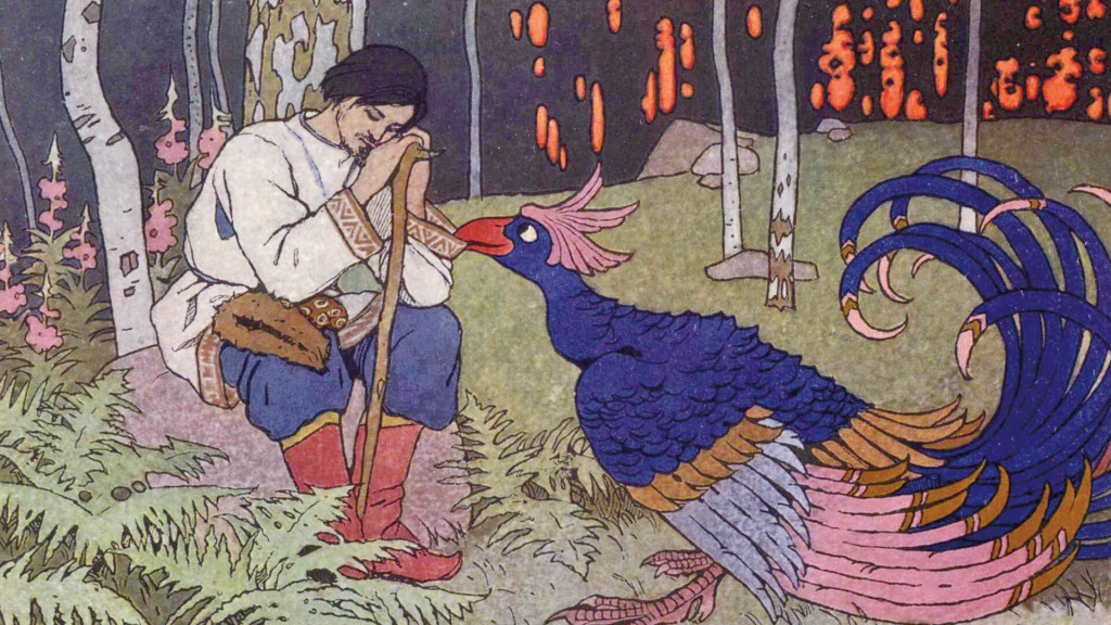 ivan bilibin-Tsarevich Alexis and bird_1920x1080