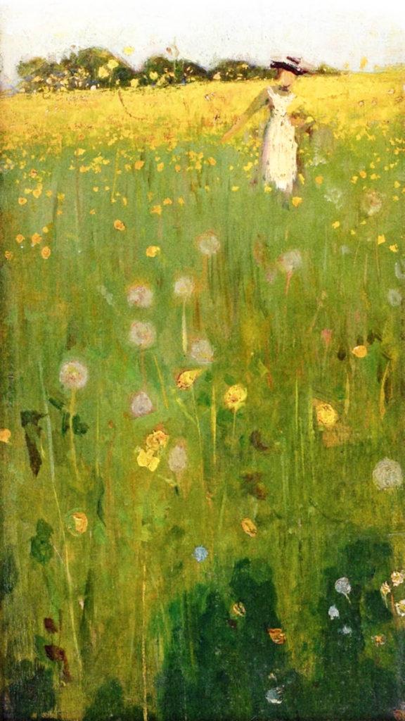 William Nicholson-The Dandelion Field_1080x1920