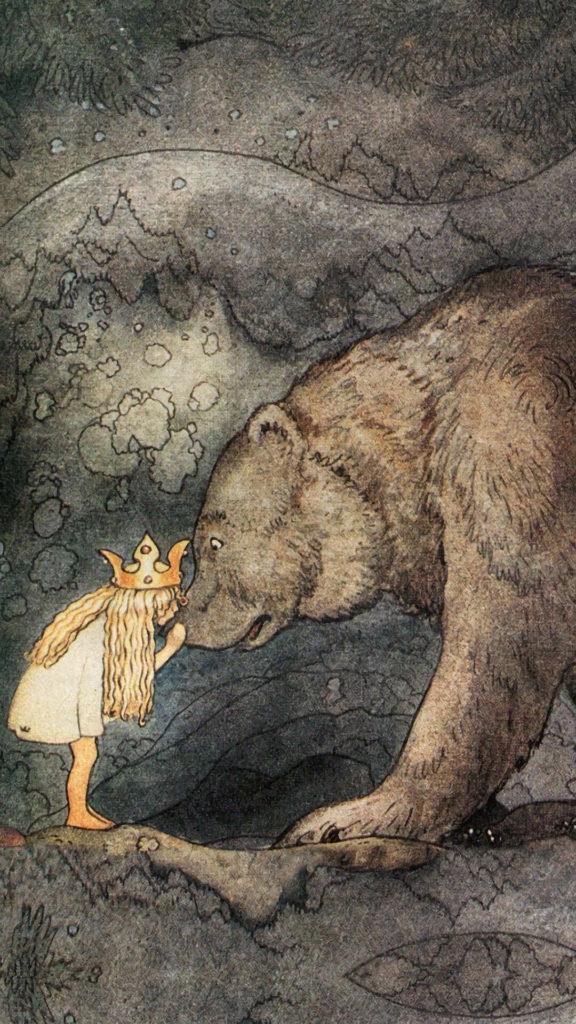 John Bauer-princess and the bear_1080x1920