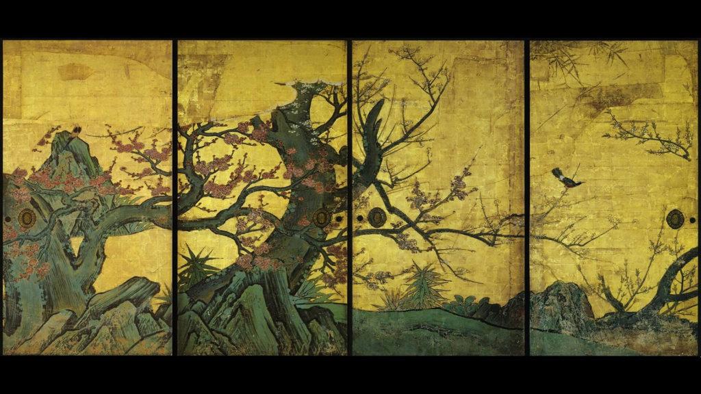 kanou sanraku-koubaizu fusuma_1920x1080