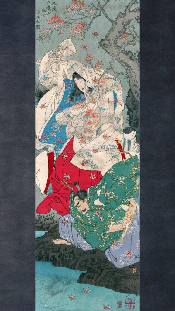 tsukioka yoshitoshi-tairano koremochi togakushiyama kijo taiji no zu_1080x1920