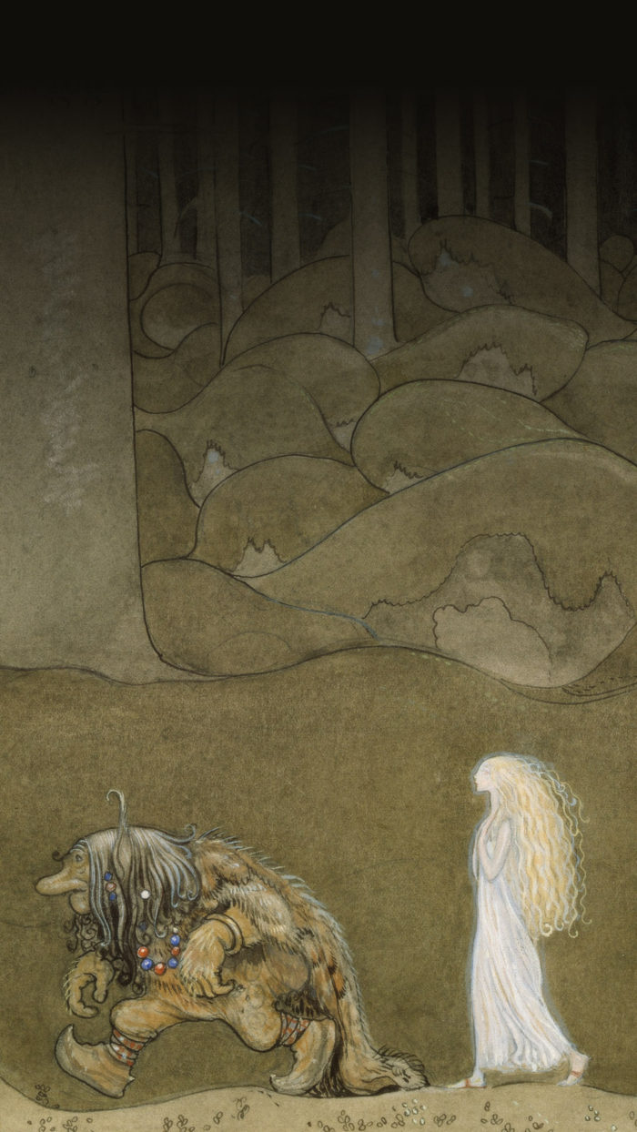 John Bauer-The Princess and the Trolls 1080x1920