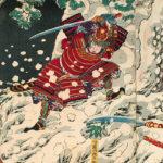 月岡芳年 / 武勇雪月花之内 吉野の雪