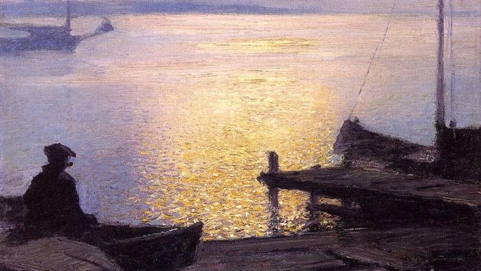 エドワード・ヘンリー・ポタスト Edward Henry Potthast / Along the Mystic River
