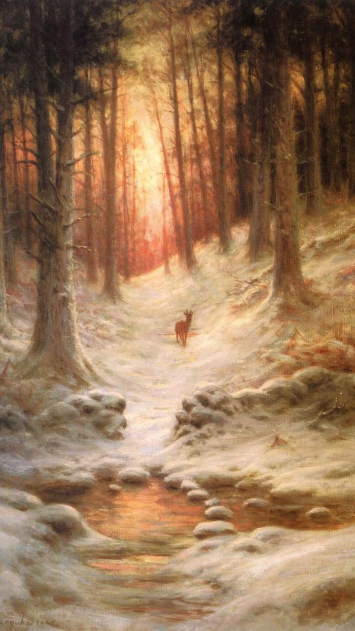 ジョゼフ・ファークハーソン Joseph Farquharson-In Deep Midwinter