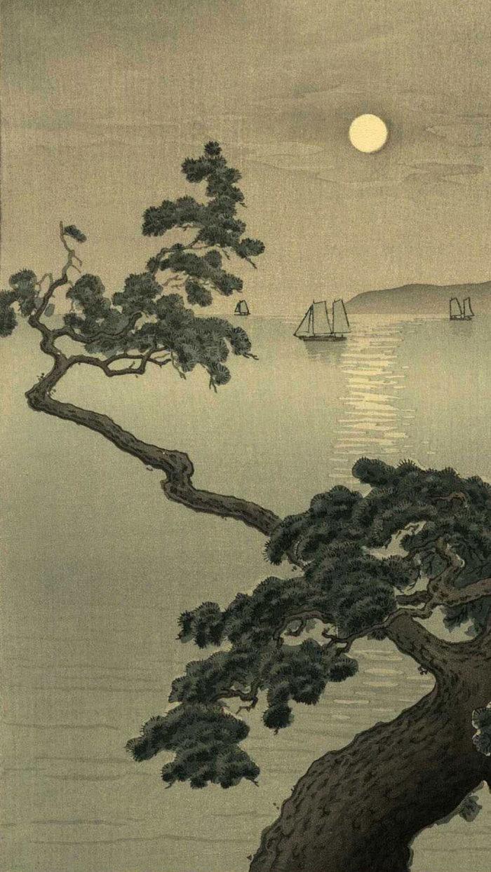 土屋 光逸 Tsuchiya Koitsu / 明石の濱