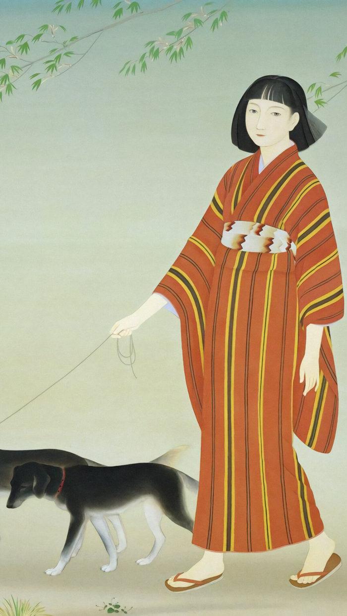 菊池契月 kikuchi keigetsu / 散策2