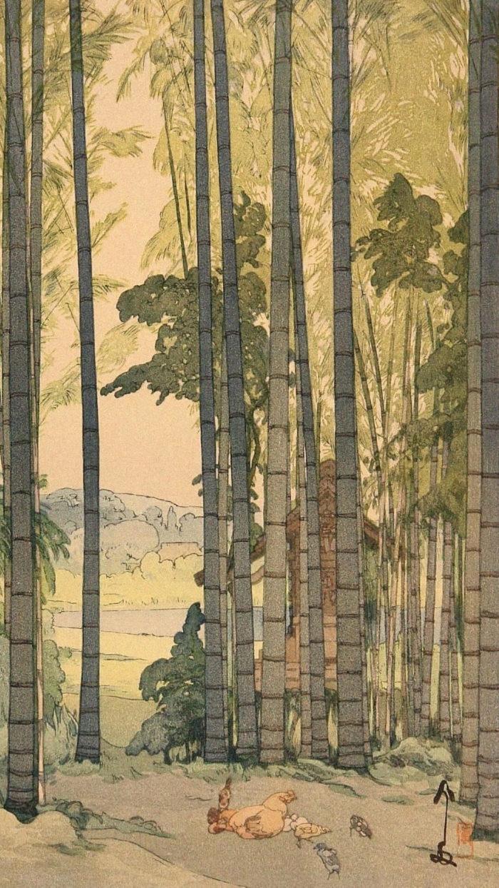 吉田博 yoshida hiroshi / 竹林