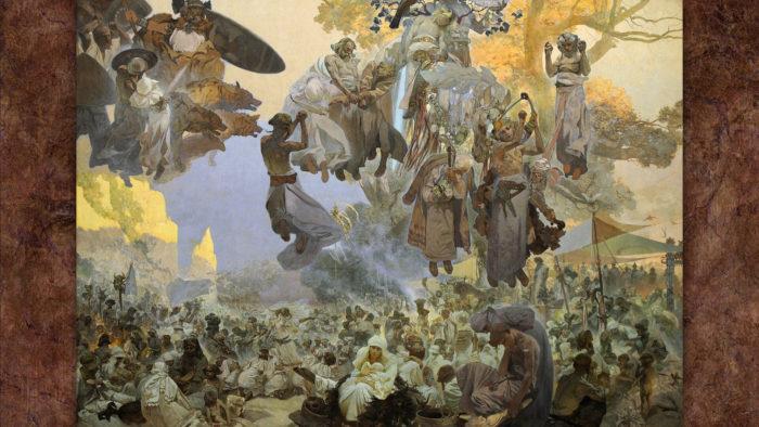 Alfons Mucha-Slavnost Svantovítova na Rujáně_1920x1080