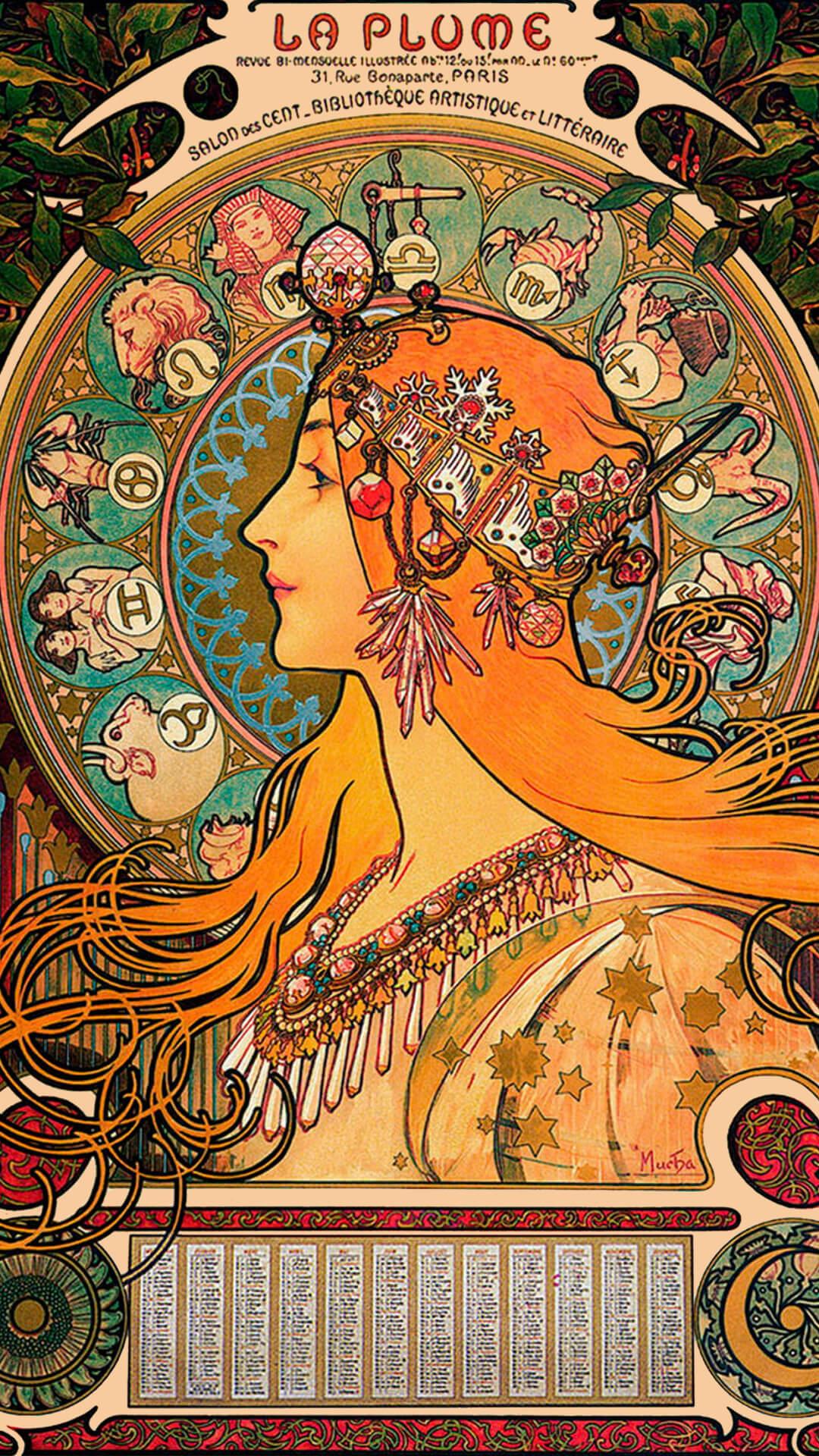 Alphonse Mucha-Zodiac_1080x1920