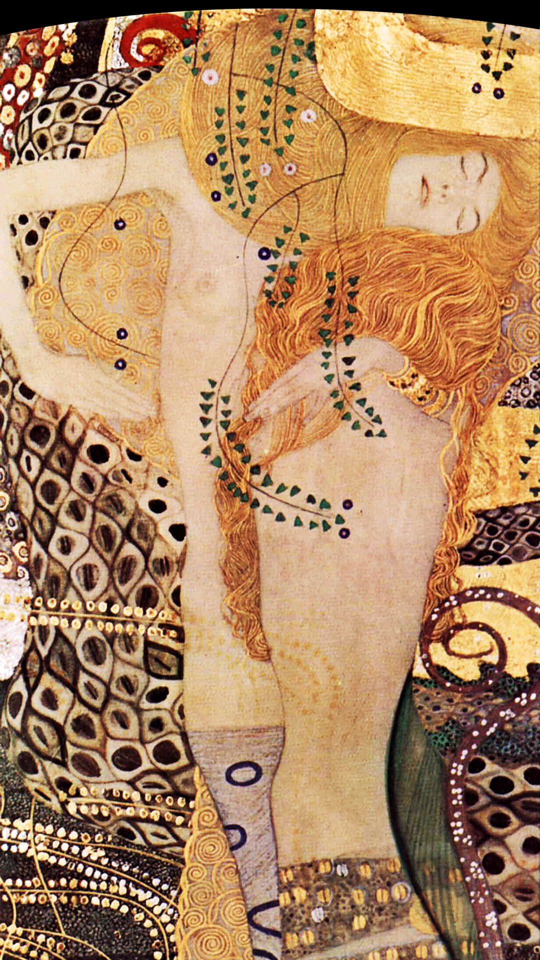 Gustav Klimt-Water Serpents_1080x1920
