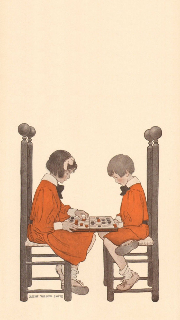 Jessie Willcox Smith-A Game of Checkers_1080x1920