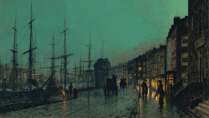 John Atkinson Grimshaw-City Docks by Moonlight_1920x1080
