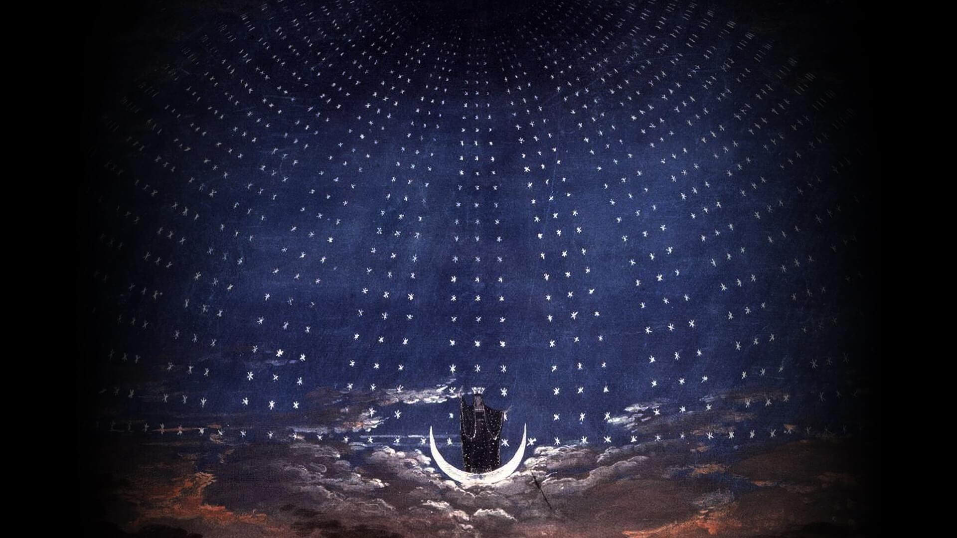 カール・フリードリッヒ・シンケル Karl Friedrich Schinkel-Stage set for Mozart's Magic Flute