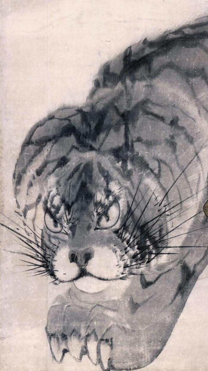 長沢芦雪 Nagasawa Rosetsu / 虎図襖
