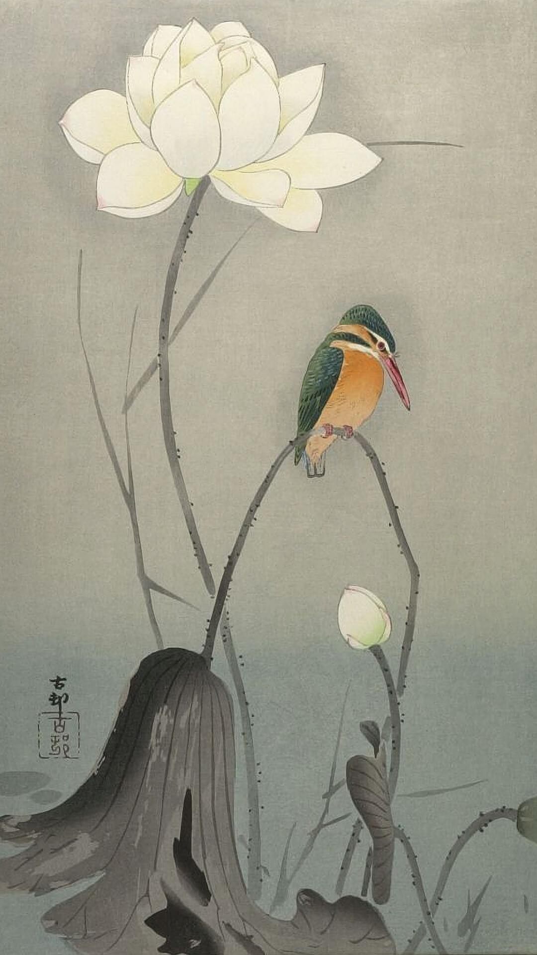 Ohara Koson-Hasu ni kawasemi_1080x1920