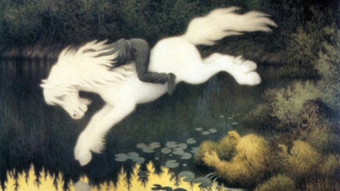 テオドール・キッテルセン Theodor Kittelsen / Boy on white horse