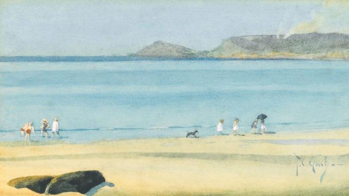 Thomas Cooper Gotch-Paddling, Whitsand Bay_1920x1080