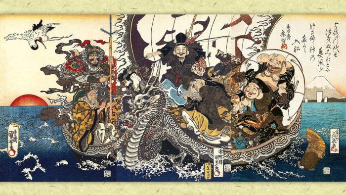 Utagawa Kuniyoshi-Kunisada-Keisai Eisen-Takara bune_1920x1080