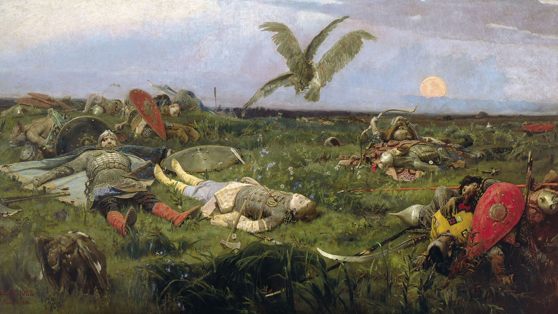 Viktor Vasnetsov-After the carnage Igor Svyatoslavich with Polovtsy_1920x1080